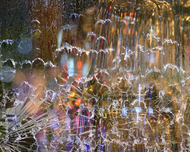 Abstract Waterfall from Dallas Botanic Garden